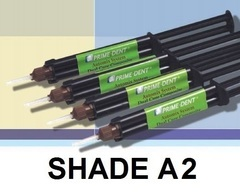 4 x 10 g Syringes Shade A2, 20 Mixing Tips, 20 Intra Oral Tips, and IFU.  Made in the USA