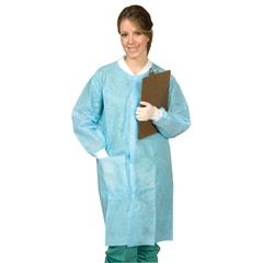 DISPOSABLE LAB COATS  SM -  XXXL   10/BAG